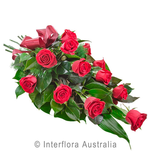 Passion, Sheaf of 12 Long Stemmed Red Roses