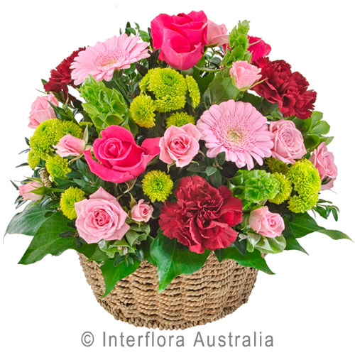 Flourish, Bright Mixed Basket of Blooms